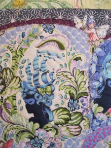 Chair Detail of Morning Fairies in Grandma's Garden by Sandy Jorgensen