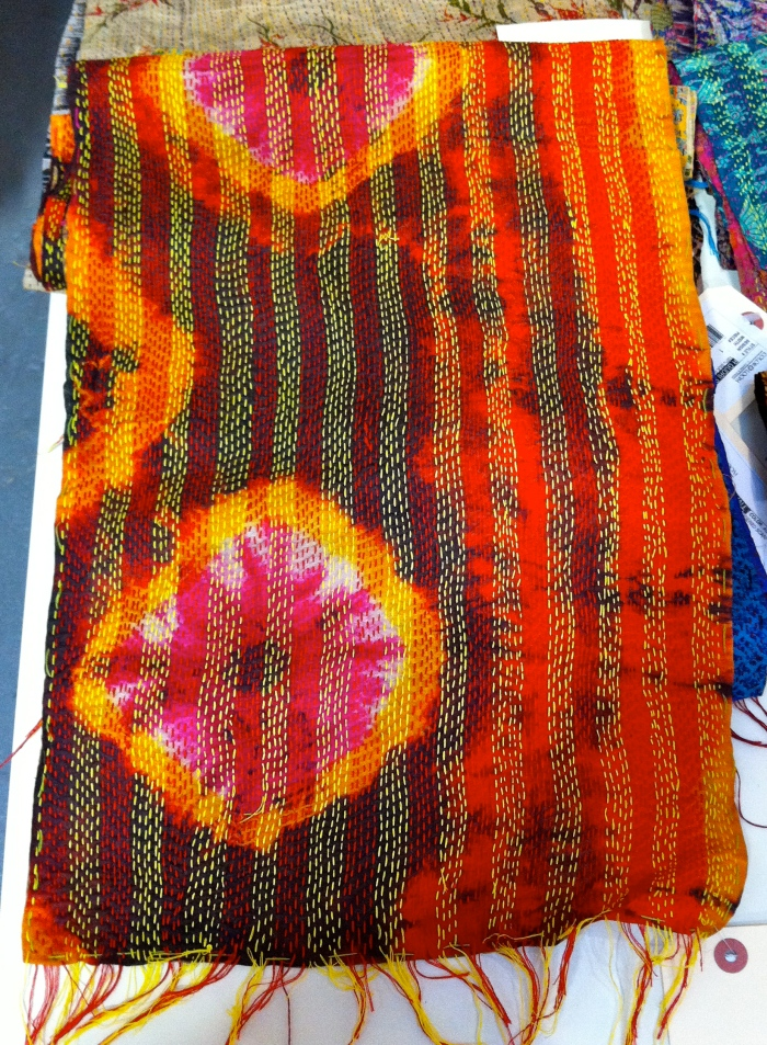 Color Loom - Ghudri Scarf with tie dye