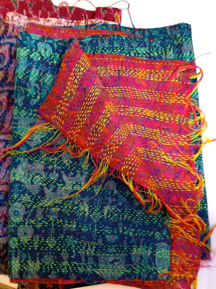 Color Loom - Ghudri Scarves - more two-sided marvels