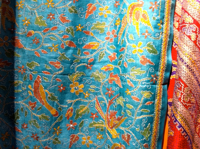 Color Loom - Hand Embroidered Silk Scarves
