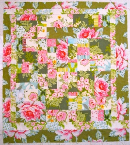 Inner and outer border on - ready to quilt