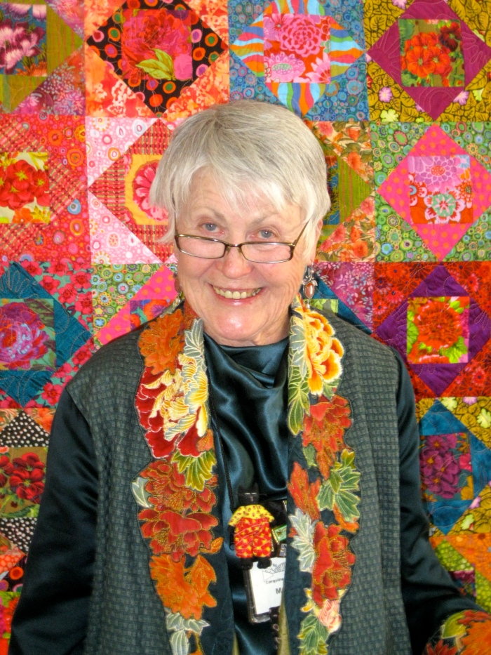 "Margaret Linderman wearing ""View from the Koi Garden"""