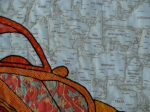 Volkswagen Bug Quilt - Super close up