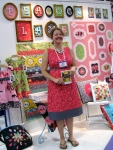 Violet Craft in her booth