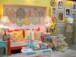 Sandi Henderson's booth - center section