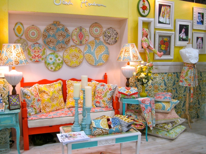Sandi Henderson's booth - center section