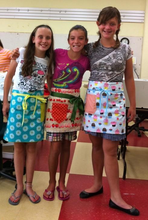 Darling girls in darling aprons