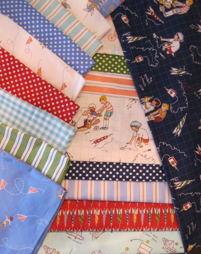 'Children at Play Over the Fence' by Sarah Jane for Michael Miller Fabrics