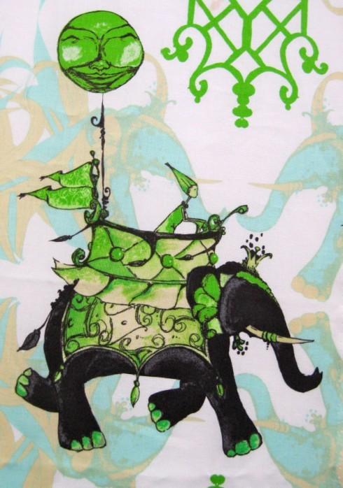 Elephant Parade, fabric by Tina Givens