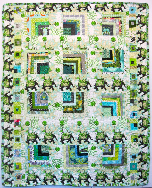 Pernilla's Journey Across the Housetops Quilt, by Alethea Ballard; 2011