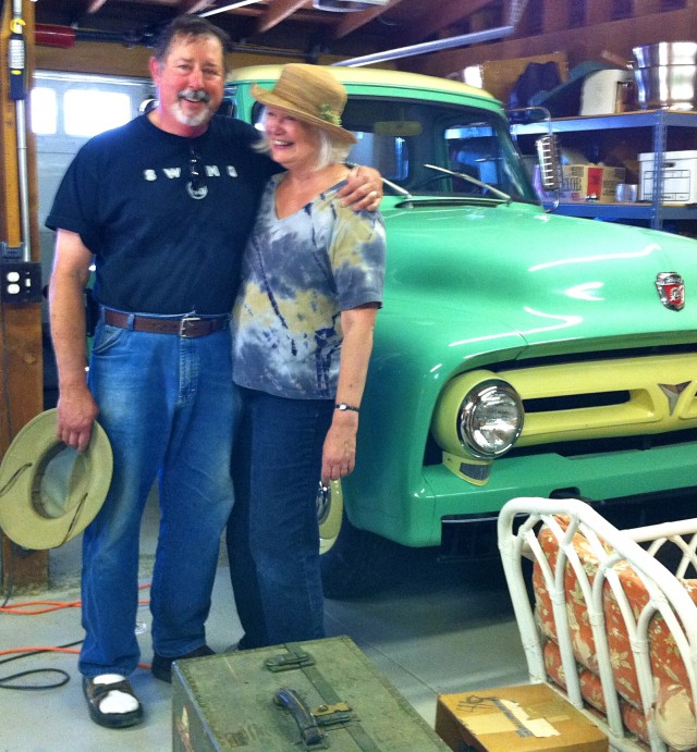 Sue and Bill with the ford truck