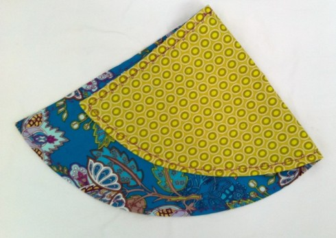 Pretty contrast fabric and darling stitching