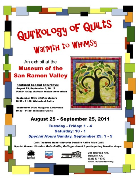 Official Quirkology of Quilts flyer