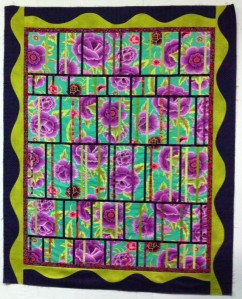 Beautiful example of a Jalousie quilt