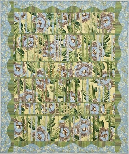 Emerald Jalousie quilt, by Alethea Ballard; 2009