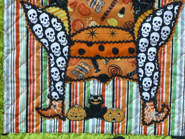 Halloweenie Chair, detail of funny feet