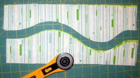 Rotary cut the curves