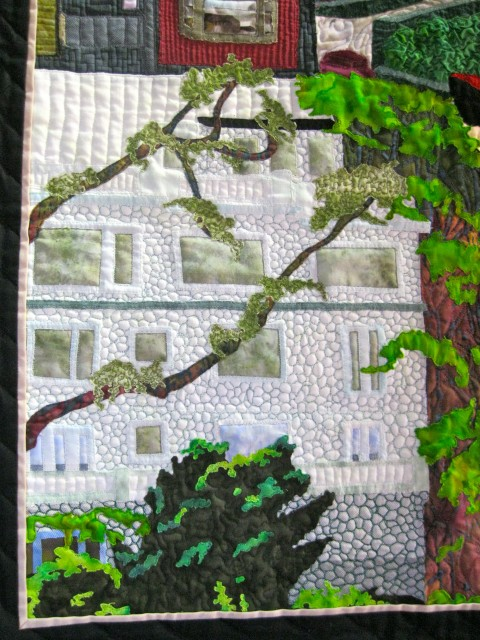 Detail of Susan Lane's Lombard Street Quilt