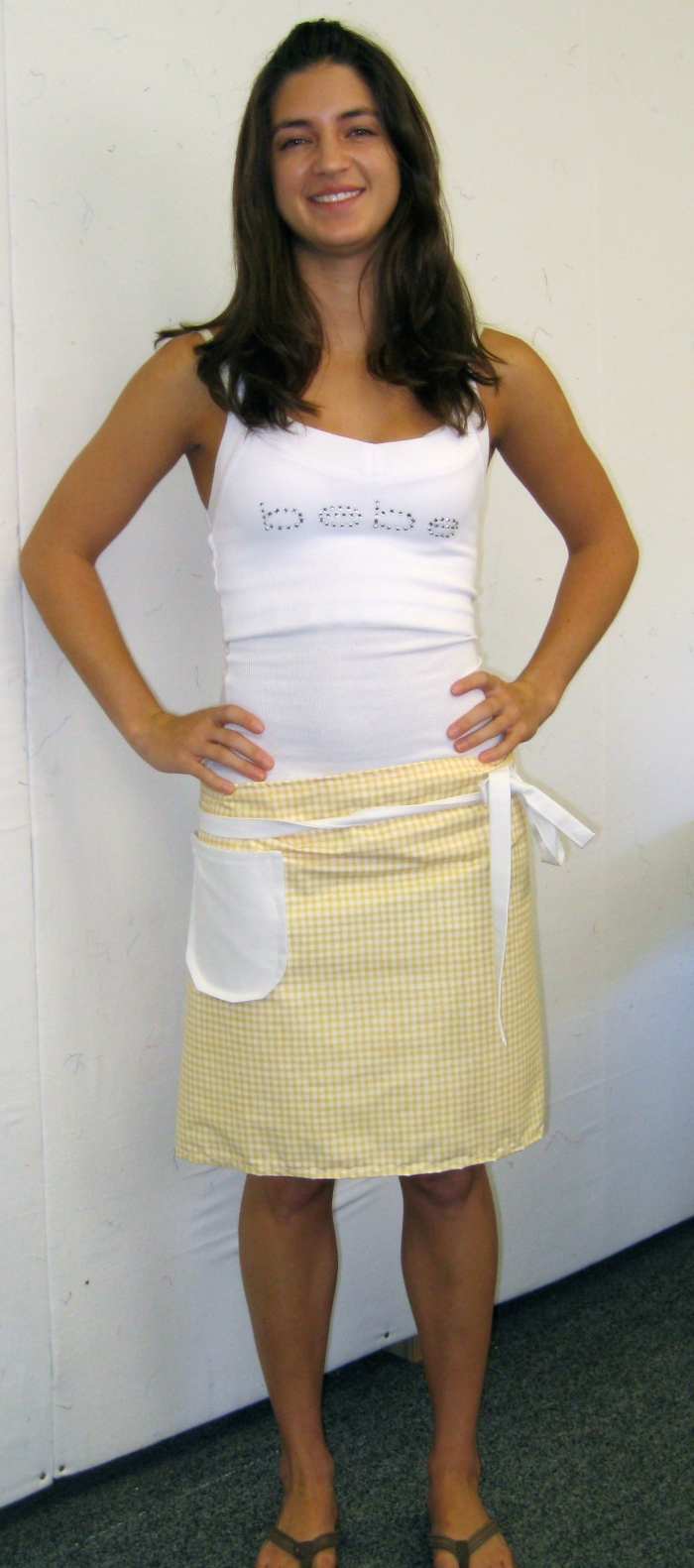 Alaina's attractive apron