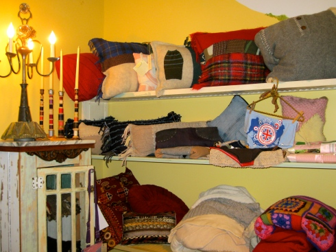 Pillows, Sweater Quilts and Blankets