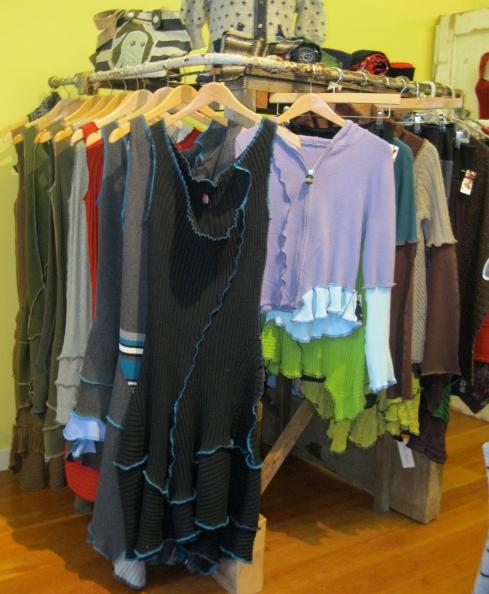 Dresses and sweaters from Miranda Caroligne