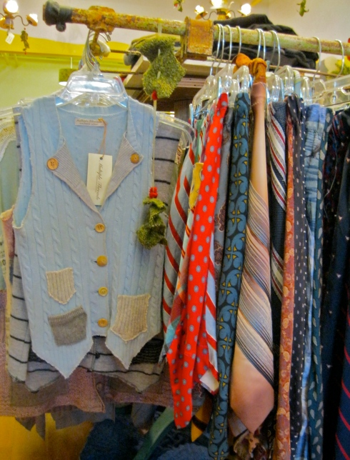 Sweater vests and silk-tie skirts