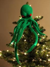 A Red-Eyed Octopus Thing get's one in the holiday spirit, for sure!