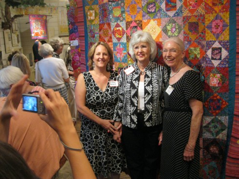Working with Margaret, Carmen and Linda on the quilt show