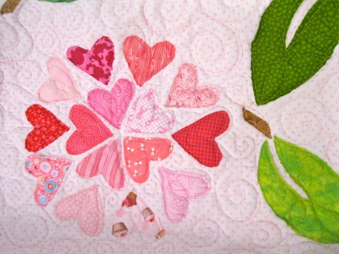 Close up of Loving Hearts flower