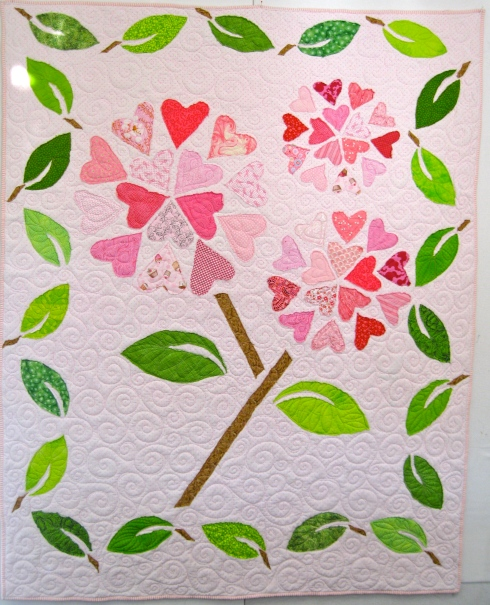 Loving Hearts Quilt, by Alethea Ballard; 2012