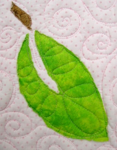 Leaf quilting detail