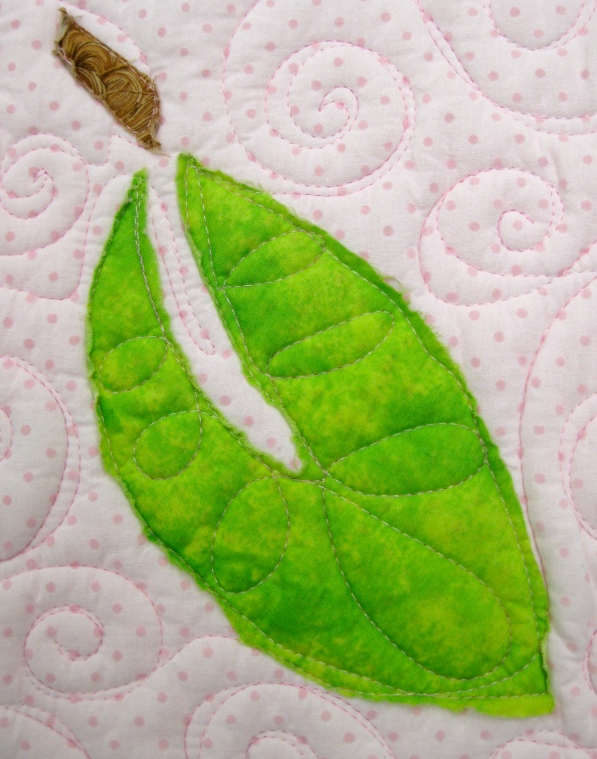 Leaf quilting detail