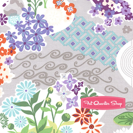Good Fortune Zen Pond Garden fabric by Kate Spain
