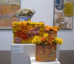 Trio of arrangements in the modern art gallery