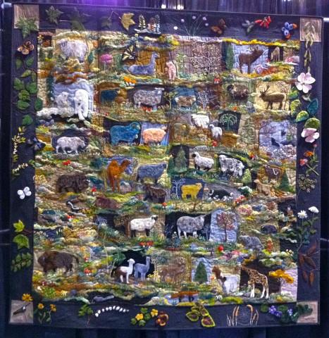 "Sheep Wannabees by Debora Konchinsky; 69"" x 69"""