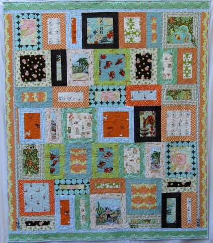 "Show Off Summer Quilt, by Alethea Ballard, 2010. 65"" x 76.5"""
