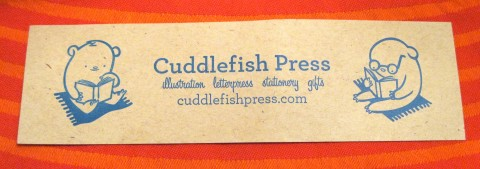 Cuddlefishpress card