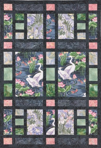 Shoji Screen Quilt, pattern from Laura Nownes
