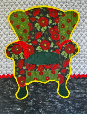 Red Poppy chair - work in progress