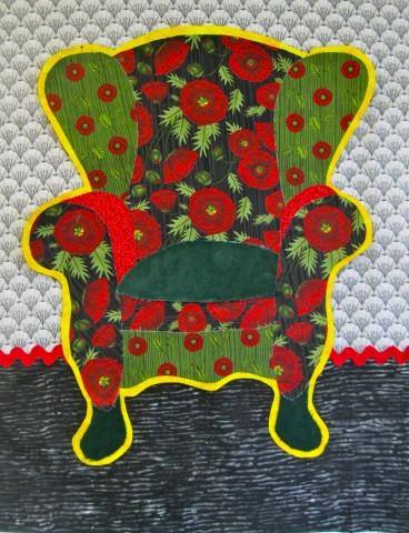 Red Poppy chair - work in progress