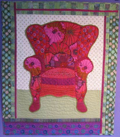Kathleen's Fuschia Chair - completed!
