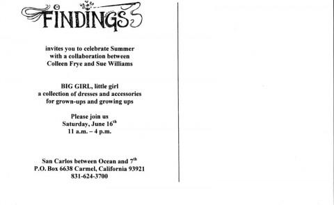 Findings Invite