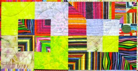 Detail of Wonderful Stripes, by Nancy Bourne