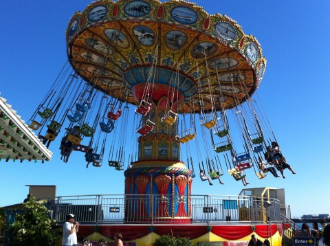 What is a boardwalk without a scary chair swing ride?