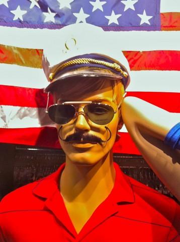 My patriotic Santa Cruz man