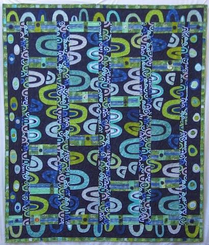 Blue Arches Quilt, by Alethea Ballard; 2008