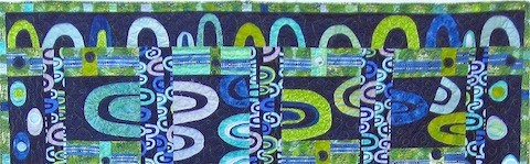 Blue Arches Quilt, detail