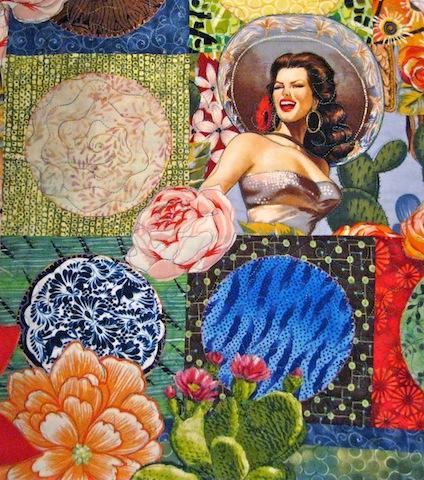 detail of Fiesta Beauties quilt, by Alethea Ballard; 2012
