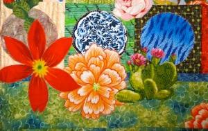 Detail of Fiesta Beauties quilt, by Alethea Ballard; 2012