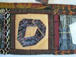 Stitch along folds